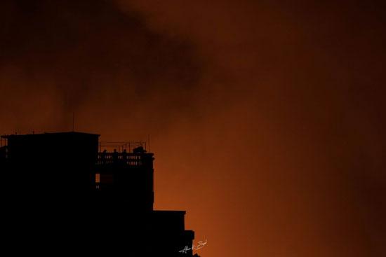 جانب-من-حريق-فى-بنجلاديش