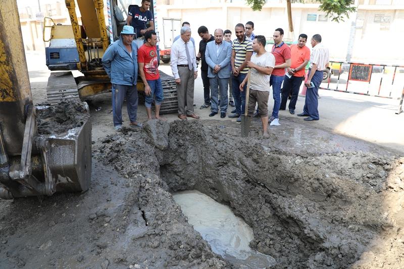 كسر ماسورة مياه شرب  (2)