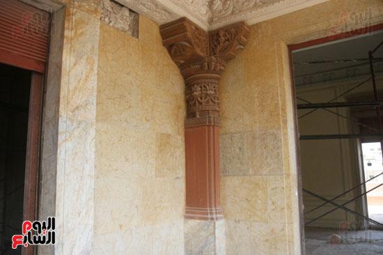 المحافظة على نقوش قصر البارون