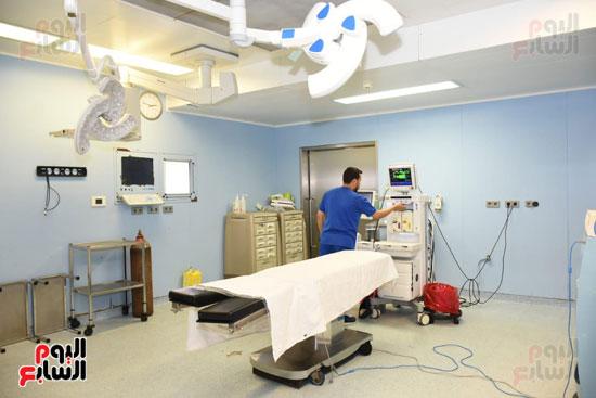 إحدى غرف معهد  الأورام