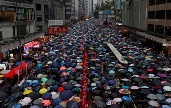 احتجاجات-حاشدة-فى-هونج-كونج