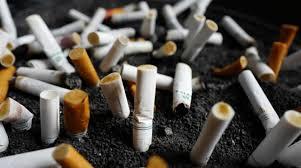 اعقاب السجائر ..