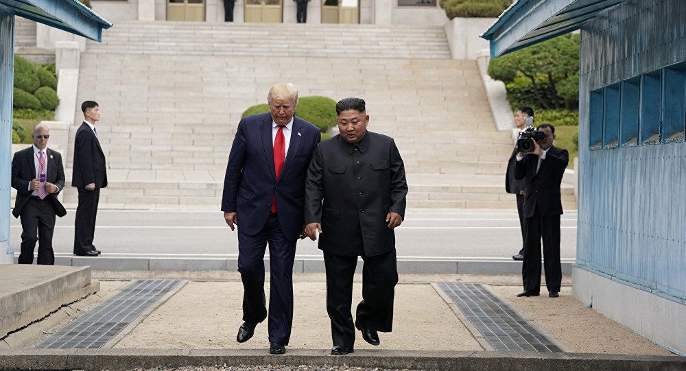 ترامب وكيم بالمنطقة منزوعة السلاح