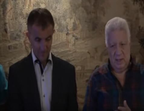 مرتضى منصور رئيس نادى الزمالك والمدرب ميتشو (1)