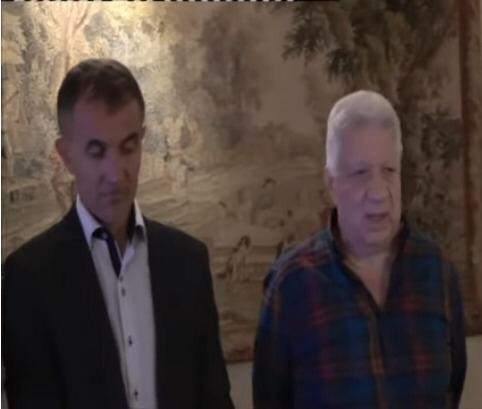 مرتضى منصور رئيس نادى الزمالك والمدرب ميتشو (2)