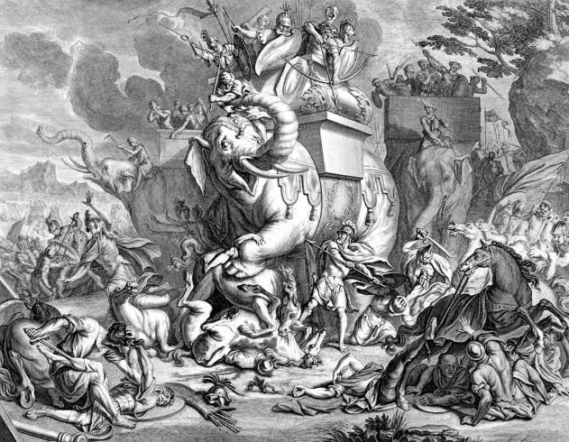 مقتل أليعازر إثر معركته مع الفيل