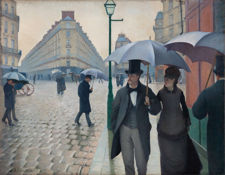 يوم ممطر فى باريس