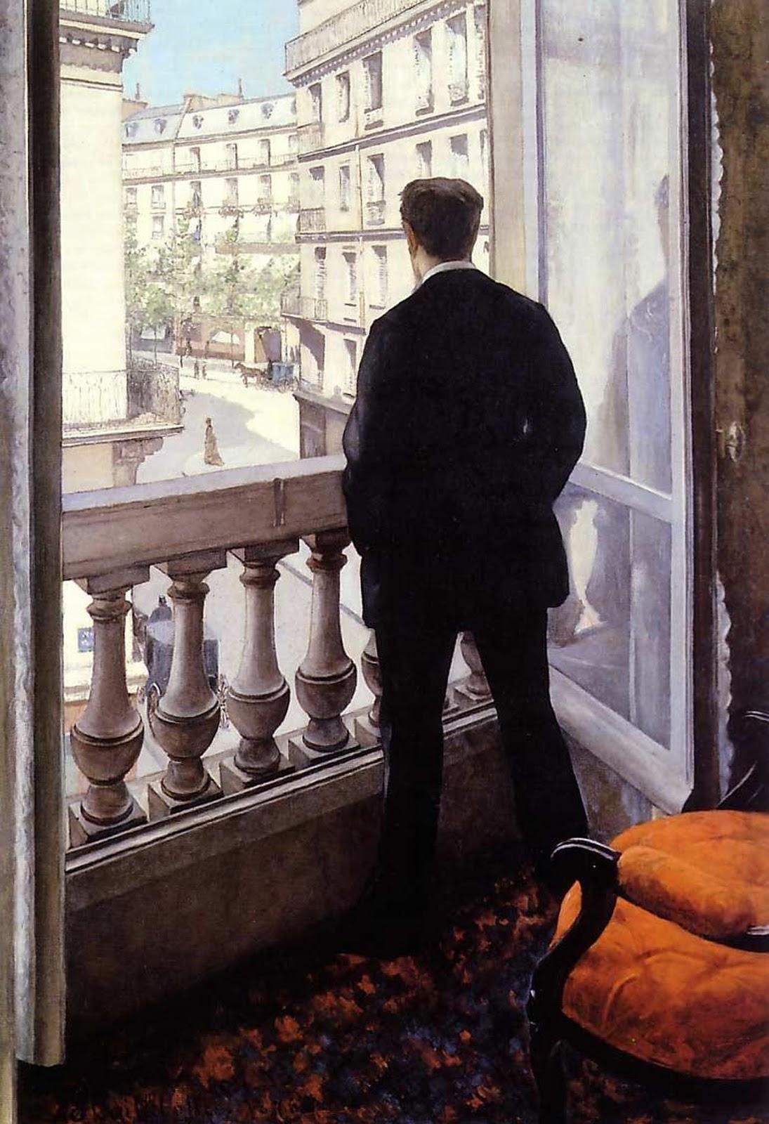 شاب فى النافذة