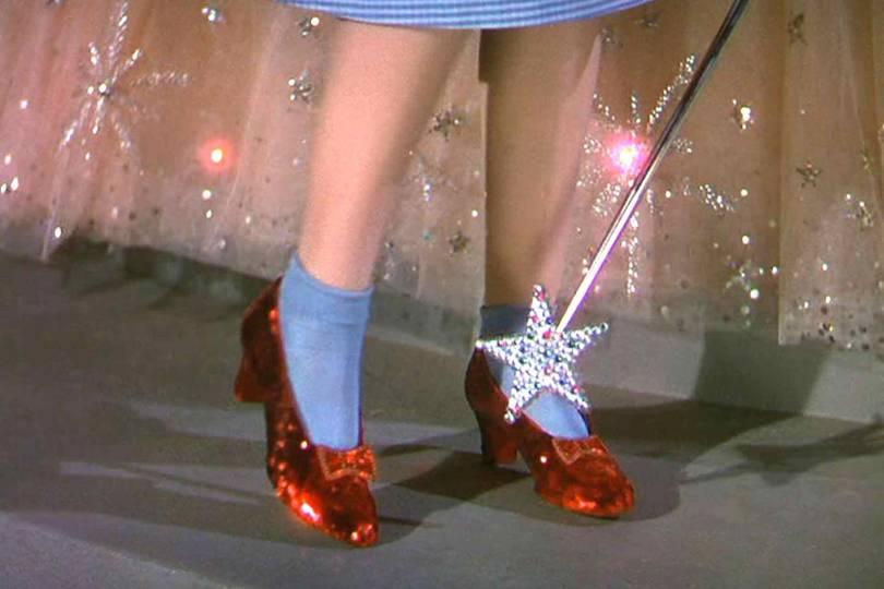 أحذية دوروثي الحمراء من The Wizard of Oz