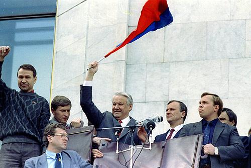 الرئيس الروسي بوريس يلتسن