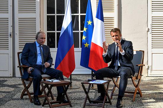 محادثات-بين-الرئيسين-الفرنسى-والروسى