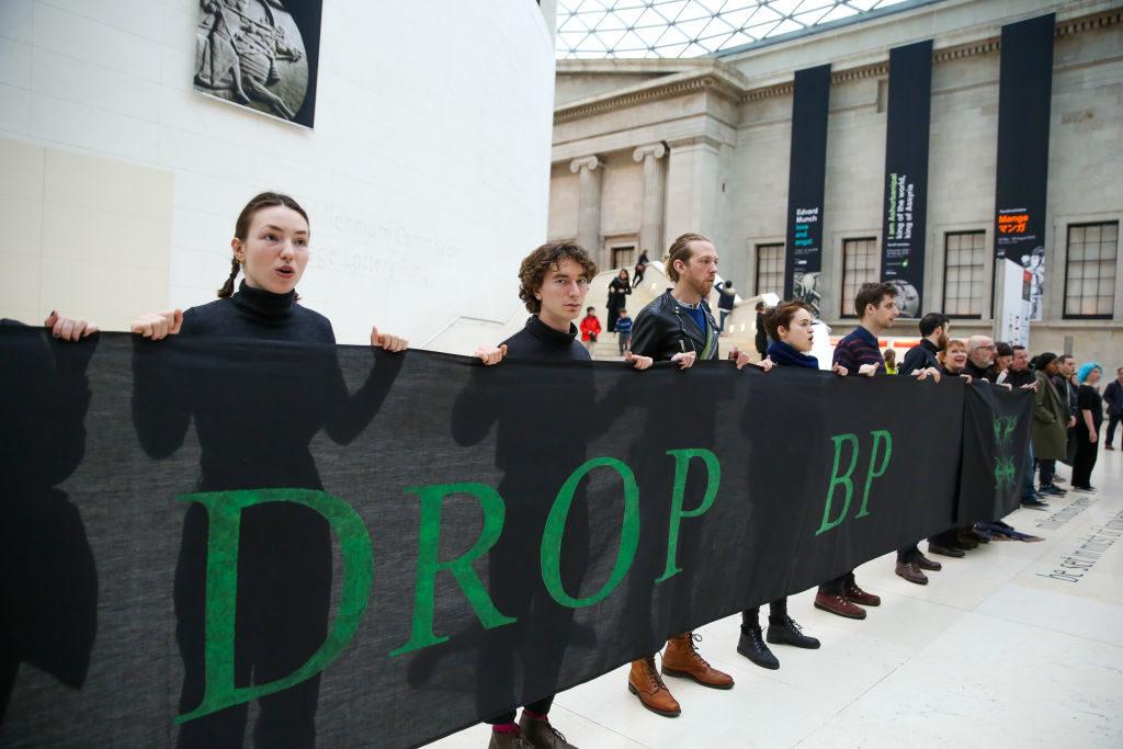 نشطاء يحتجون على رعاية BP للمتحف البريطاني