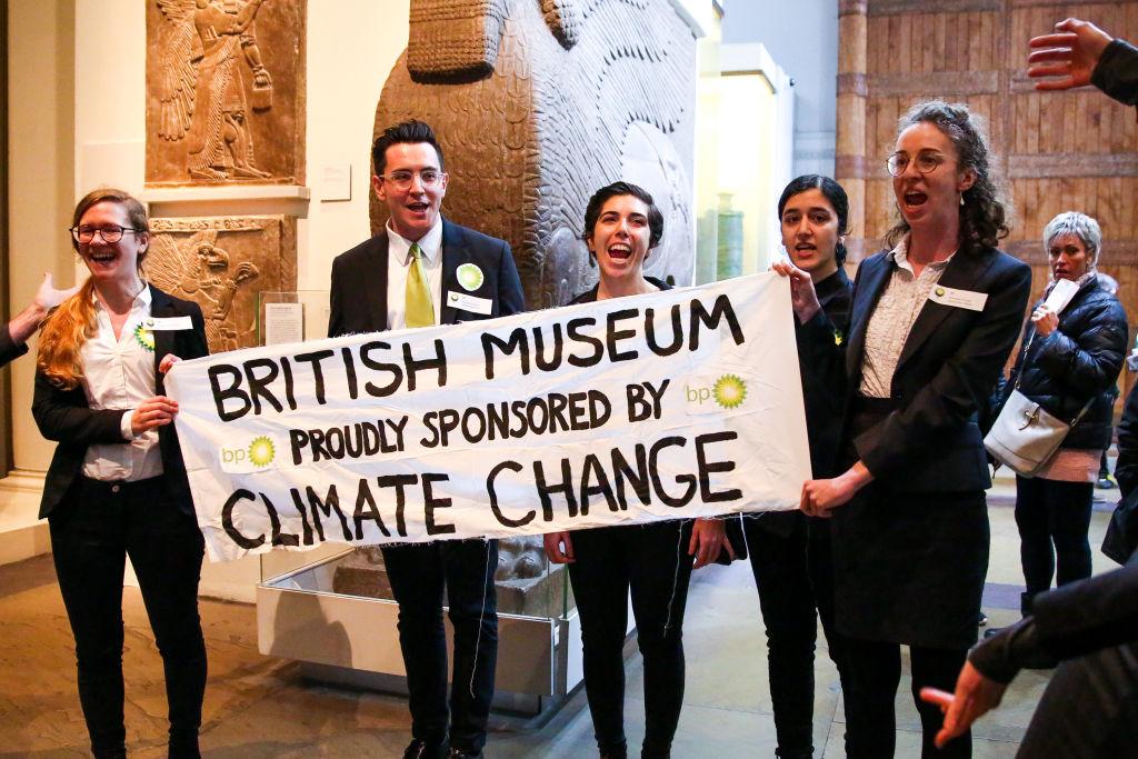 نشطاء يحتجون على رعاية BP للمتحف البريطانى