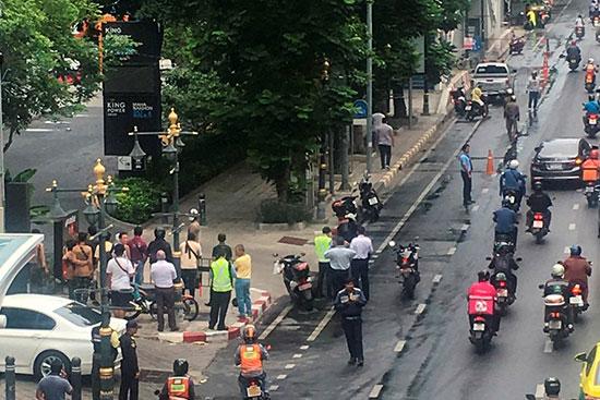 موقع الانفجار فى بانكوك