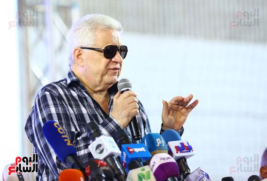 مؤتمر مرتضي منصور لتقديم ميتشو  (1)