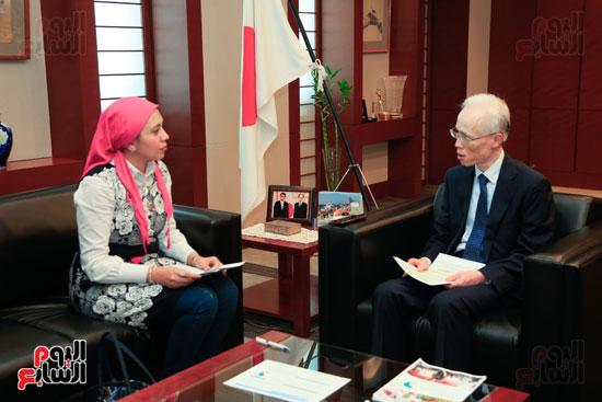 السفير اليابانى بالقاهرة فى حواره مع اليوم السابع (36)