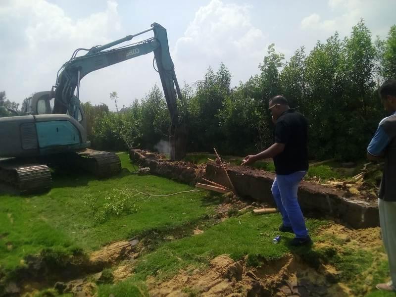 إزالة التعديات على الأراضى الزراعية بالمنوفية  (11)