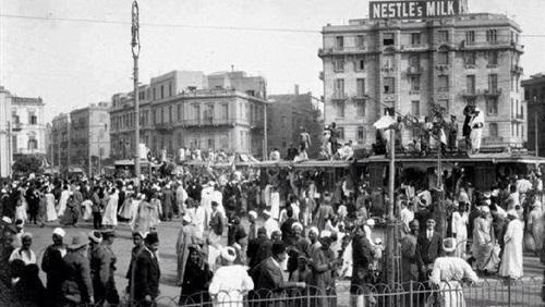 صورة لميدان التحرير ابان ثورة 1919
