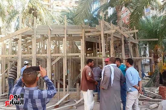 ضريح ابو الإخلاص الزرقانى بعد نقله لميدان أبو العباس بالإسكندرية (12)