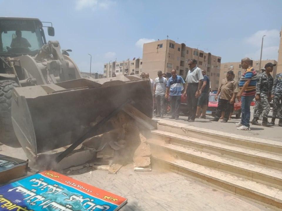 إزالة تعديات على أملاك الدولة بشرق مدينة نصر (10)