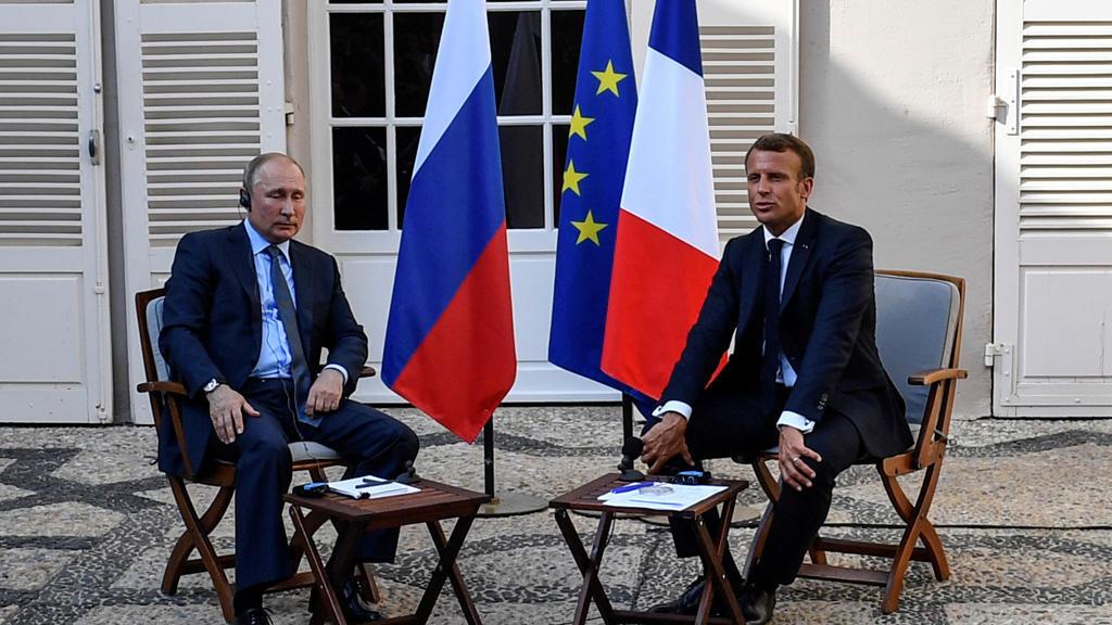 بوتين وماكرون فى مارسيليا