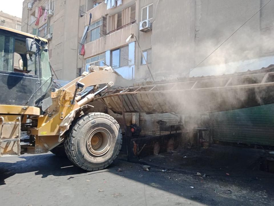 إزالة تعديات على أملاك الدولة بشرق مدينة نصر (12)