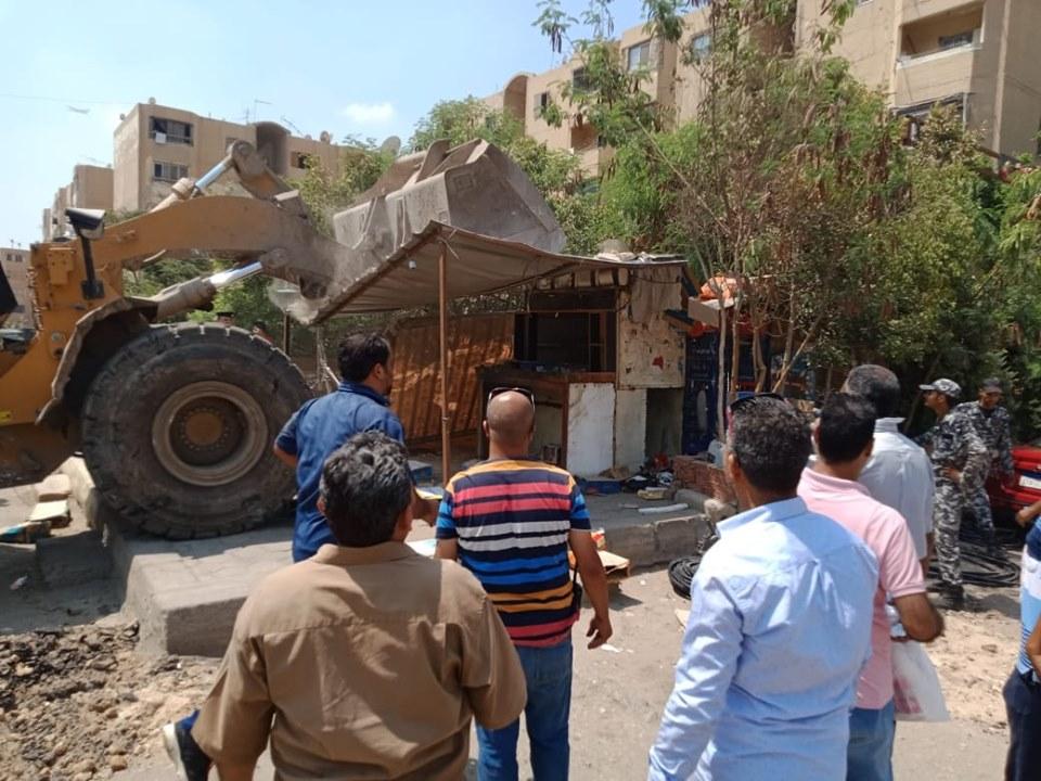 إزالة تعديات على أملاك الدولة بشرق مدينة نصر (13)