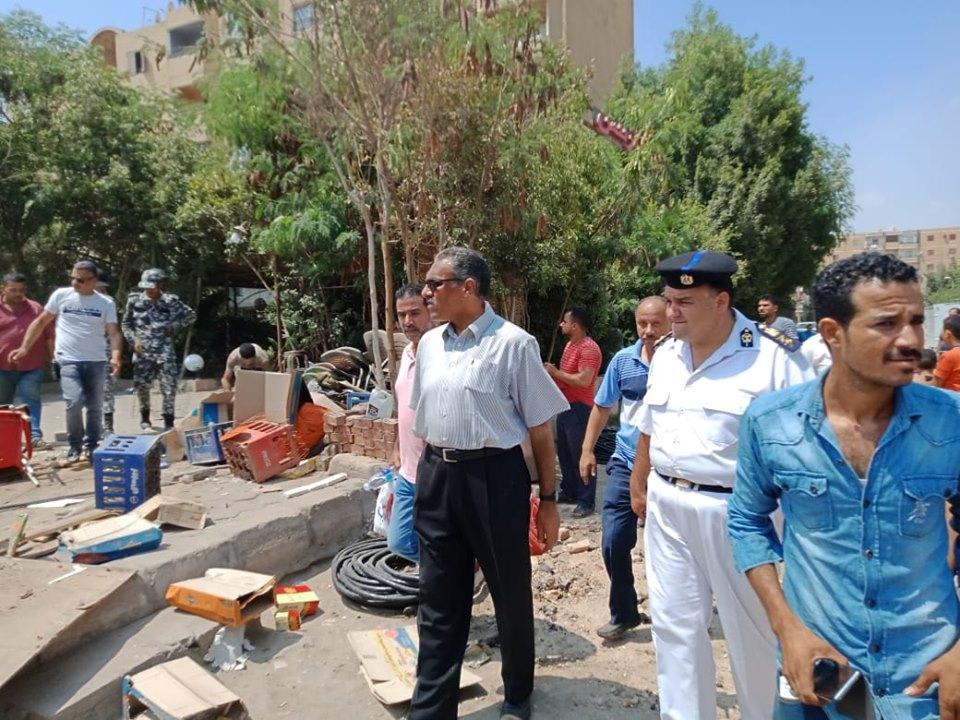 إزالة تعديات على أملاك الدولة بشرق مدينة نصر (1)