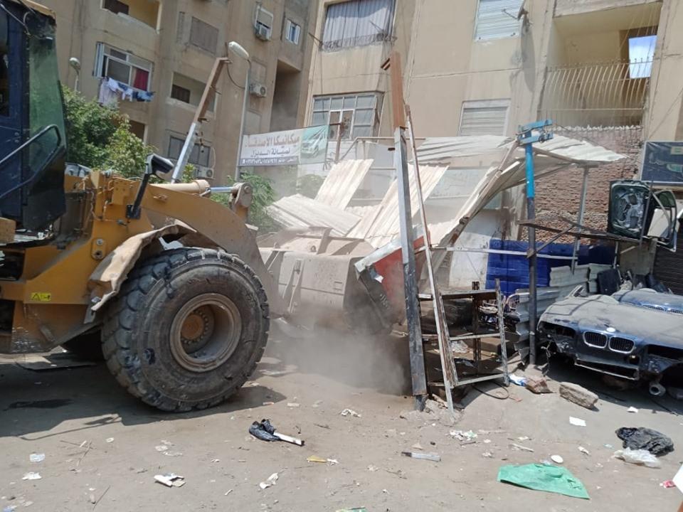 إزالة تعديات على أملاك الدولة بشرق مدينة نصر (9)