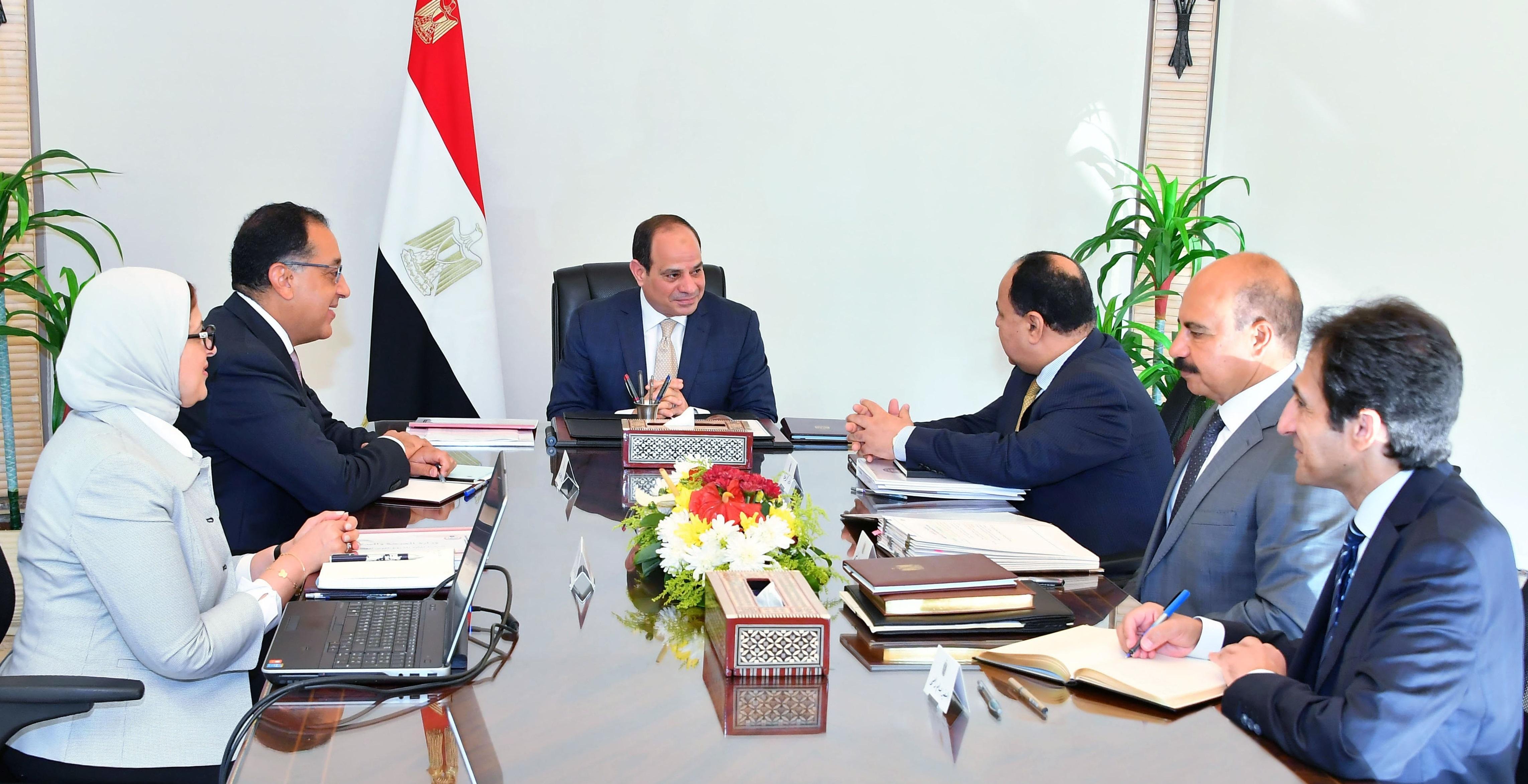 السيد الرئيس يعقد اجتماعاً مع السيد رئيس الوزراء ووزيري المالية والصحة (4)