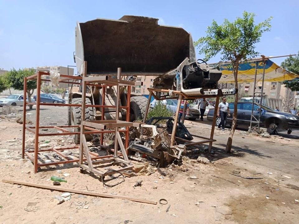 إزالة تعديات على أملاك الدولة بشرق مدينة نصر (3)