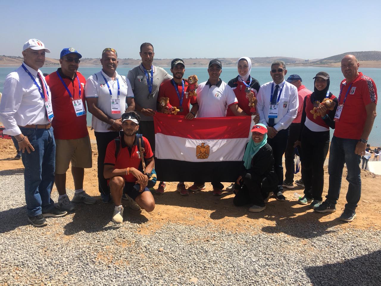 البعثة المصرية تحتفل بالتجديف