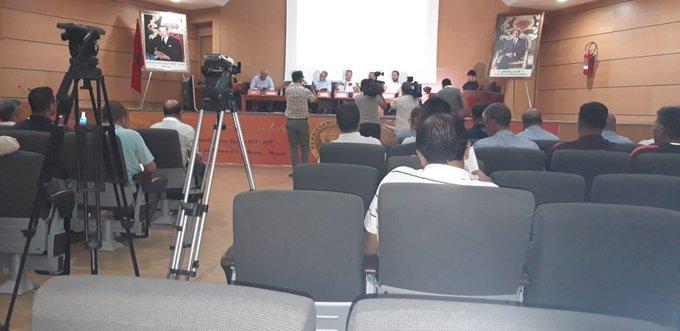 المؤتمر الصحفى لرئيس الاتحاد المغربى