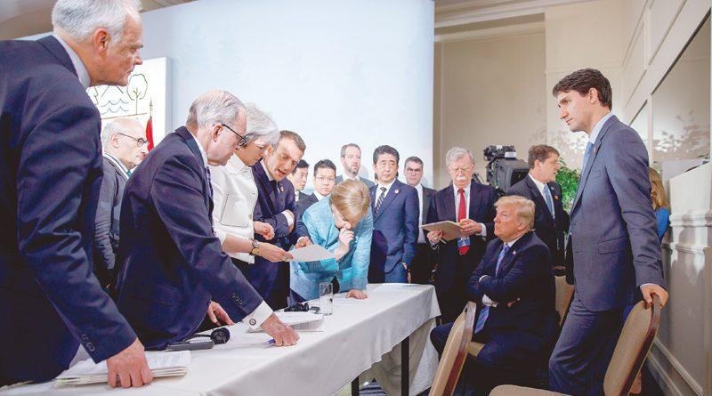 امتعاض حلفاء أمريكا من ترامب على هامش مجموعة السبع العام الماضى