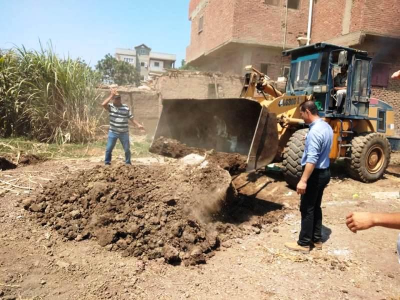 إزالة التعديات على الأراضى الزراعية بالمنوفية (1)
