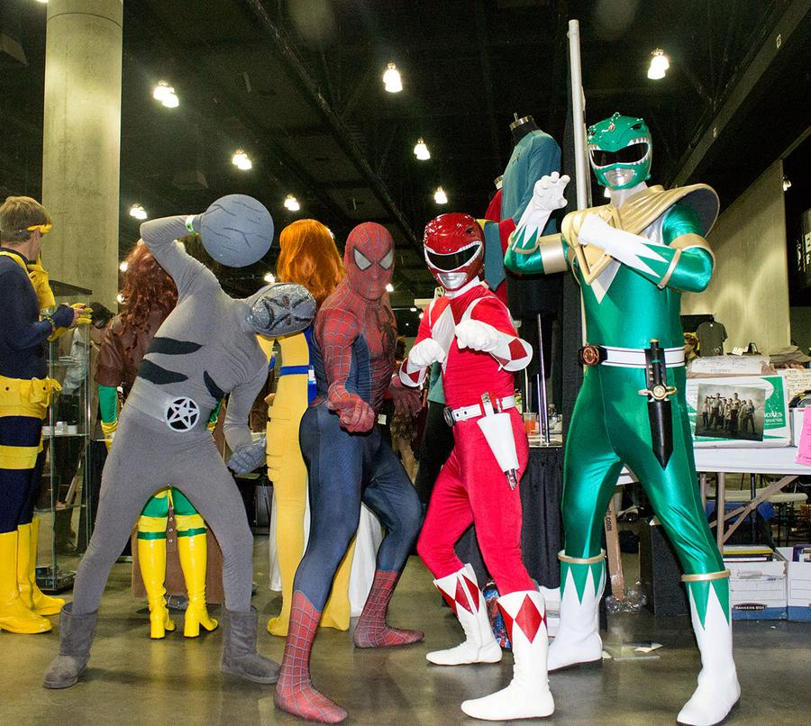 spider man and power rangers