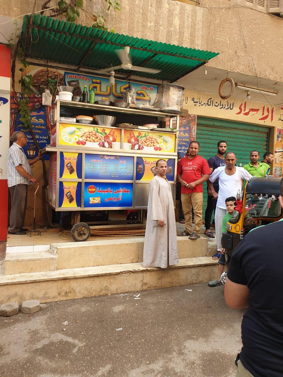 رفع الإشغالات بالعجوزة والطالبية وإصلاح كسر ماسورة مياه جنوب الجيزة  (10)