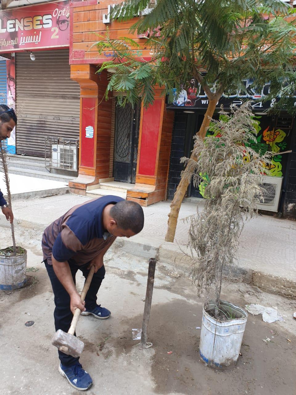 رفع الإشغالات بالعجوزة والطالبية وإصلاح كسر ماسورة مياه جنوب الجيزة  (7)