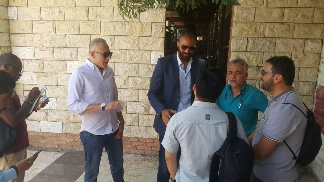 احمد عادل عضو المجلس و طارق سعيد  مدير الفريق