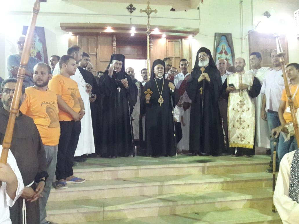 مطارنة الكاثوليك يحتفلون بدورة العذراء بدير درنكة في نهاية الصوم (2)