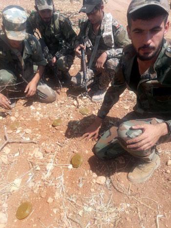 مخلفات الإرهابيين فى إدلب