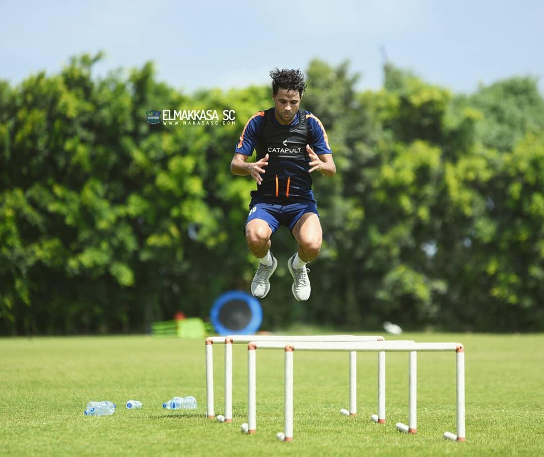 محمد ابراهيم في التدريبات