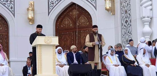 رئيس الشيشان يبكى خلال افتتاح أكبر مسجد بأوربا فى ذكرى والده (4)