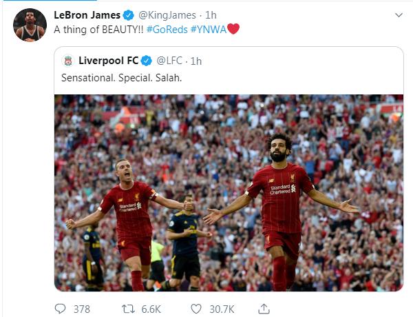 تغريدة ليبرون جيمس