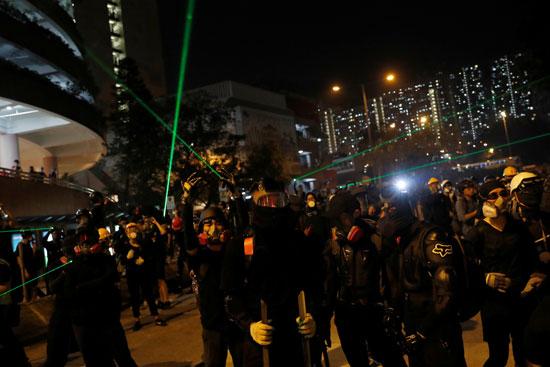 المتظاهرين فى هونج كونج