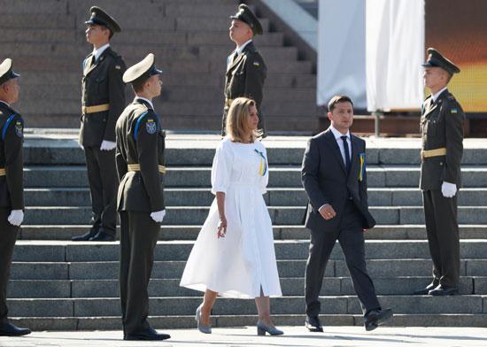 الرئيس الأوكرانى وزوجته