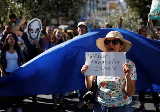 جانب من الاحتجاجات بالبرازيل