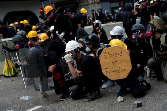 متظاهرى هونج كونج