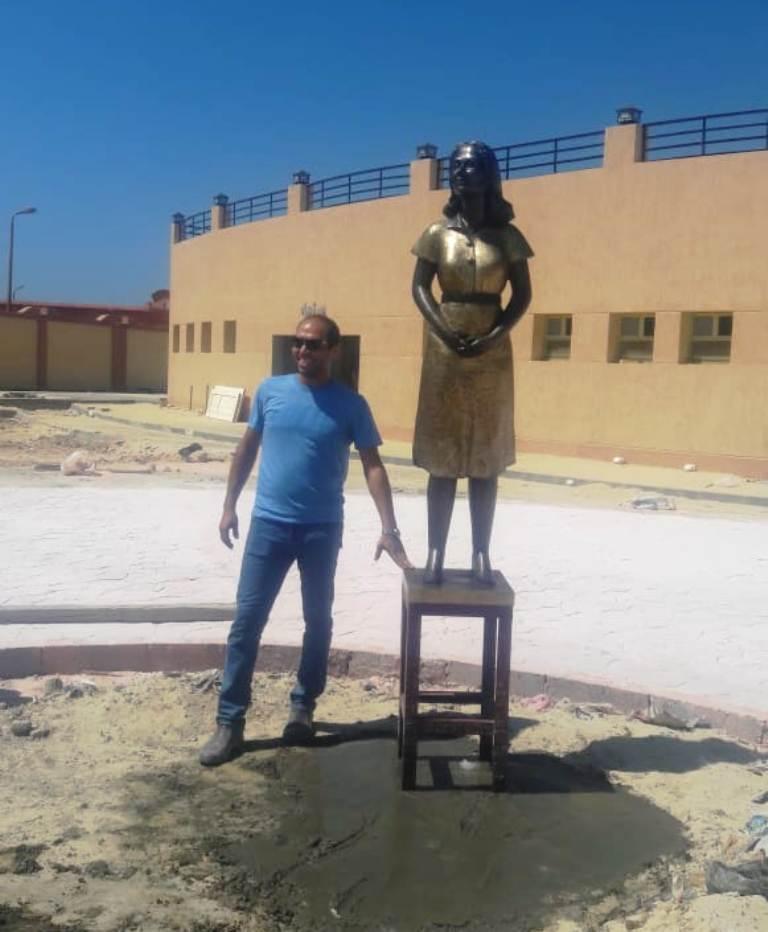 محافظة مطروح تحيي ذكرى ليلى مراد بتمثال برونزي   (7)