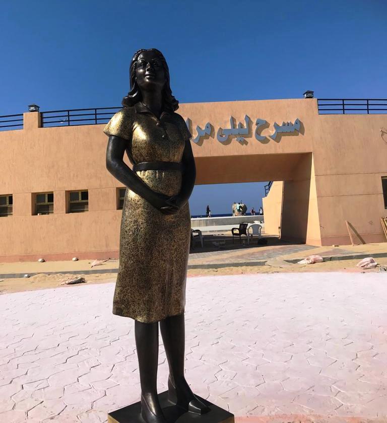 محافظة مطروح تحيي ذكرى ليلى مراد بتمثال برونزي   (1)